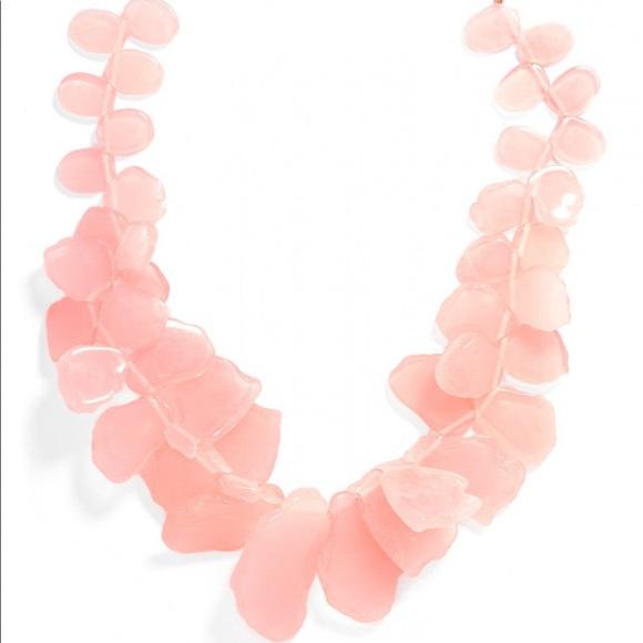 BaubleBar Jewelry - BaubleBar Pink Sea Glass Bib Necklace
